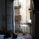Room 11 has a balcony on the main street and own batrhoom - nice!