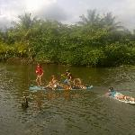 Dominical Guapil river kid paddle fun time!