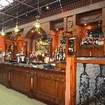 The lovely wooden bar