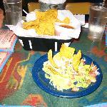 Chips n' salsa baket - side of guacamole