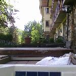 View of hotel from hot tub