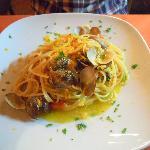 Spaghetti bottarga e vongole