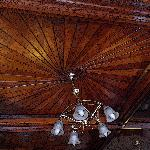 The wonderful panelled ceiling in Kitty's Tearoom. No image to used without prior permission