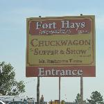 Fort Hays Sign by Highway 16