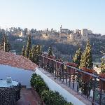 View of Alhambra from Saba room