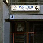 outside of the Patria hostel