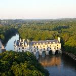 Chateau Chenonceau, late afternoon, from our balloon