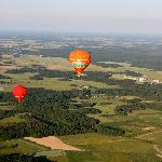 Art Montgolfieres Balloons over Loire Valley from our own ballon