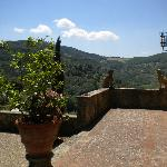 View of tuscan hillsides