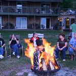 Firepit evening gathering