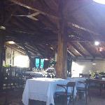 dentro del restaurante, en la planta de arriba