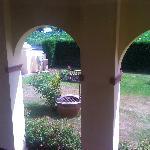 vista del jardin desde nuestro dormitorio