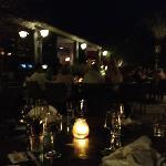 dining area at night.