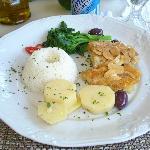 Bacalhau super salgado com batata pré-cozida