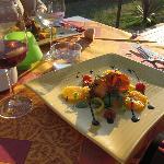 Citrus salad starter & Sangria