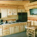 Kitchen and dining areas of the cabins