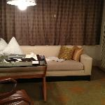 Lounge couch in room
