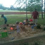 Huge Sandbox at Playground