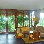 sitting area in the Jungle Lodge with balcony