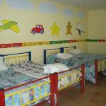 Beds in the kids club for kids to nap