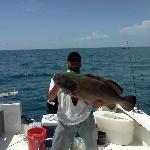 Mate Dan with his 38 pound Black Grouper