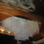 Crystals hanging in the main foyer