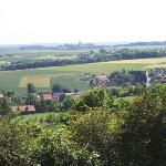 Les tours vues depuis Notre-Dame de Lorette