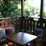 the small terrace of the villa
