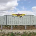 Honor roll sign of Japanese Americans who fought in WWII