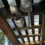 Security camera at the pool bar