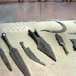 Bronze weapons and tools,