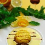 Dolci  :Tortino al formaggio  pecorino con Vin Santo