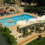 Pool and bar area from our balcony