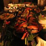 Seafood dinner prepared by Pat