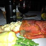 jumbo lobster (mind the red wine with it!)
