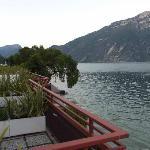 balconi delle camere sul lago