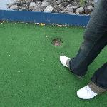 Crazy golf, is that the hole?