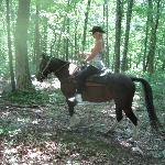 riding thru the woods with freedom, we didnt have to stay in line. Unless you want to