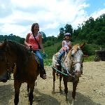 Brandy and Kyleigh enjoying the ride June 2012