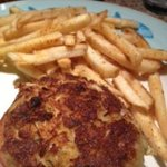 Amazing crabcakes and old bay fries. Great MD meal!