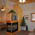 Cabin with vaulted ceilings, knotty pine, gas fireplace, whirlpool