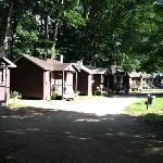 the view of the cabins from Motel room