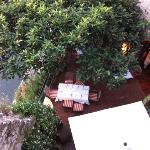 Vue terrasse depuis rue du haut