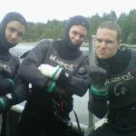 Open water divers having a good time on Canada Day