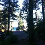 View from Crystal Cottage looking out front (Lake View)