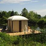 Outdoor massage pavillion