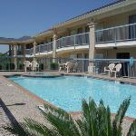 Enjoy a swim in our outdoor pool and jacuzzi!