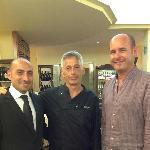 """il """"Maitre di Sala"""" Sig. Diego Marino - lo """"Chef"""" Sig. Claudio Pucci"""
