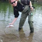 Tamara lands a fish!