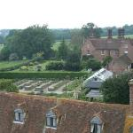 View from the tower at Sissinghurst to the B&B in the background